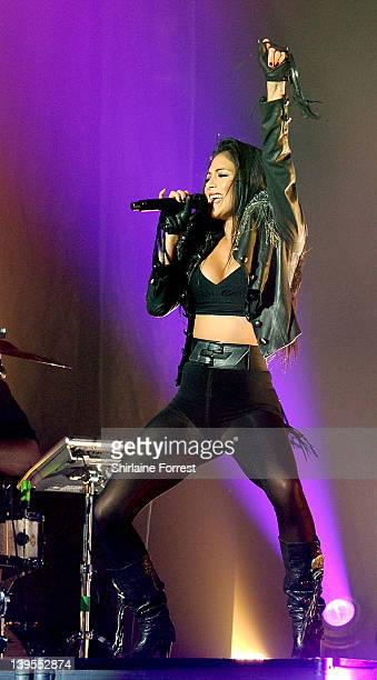 Nicole Scherzinger performs at Manchester Apollo on February 22 2012 in Manchester England