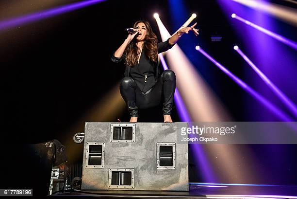 Nicole Scherzinger performs at the Ray of Sunshine concert at Wembley Arena on October 24 2016 in London England