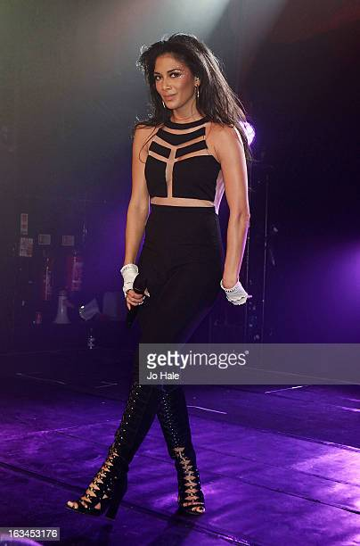 Nicole Scherzinger performs on stage at GAY on March 9 2013 in London England