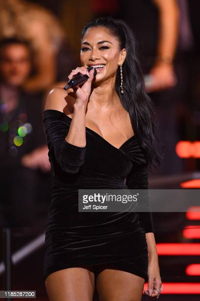 Nicole Scherzinger performs on stage during the MTV EMAs 2019 at FIBES Conference and Exhibition Centre on November 03 2019 in Seville Spain
