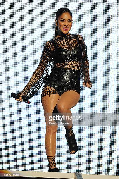 Nicole Scherzinger performs onstage for 'Give It Up For Comic Relief' at Wembley Arena on March 6 2013 in London England