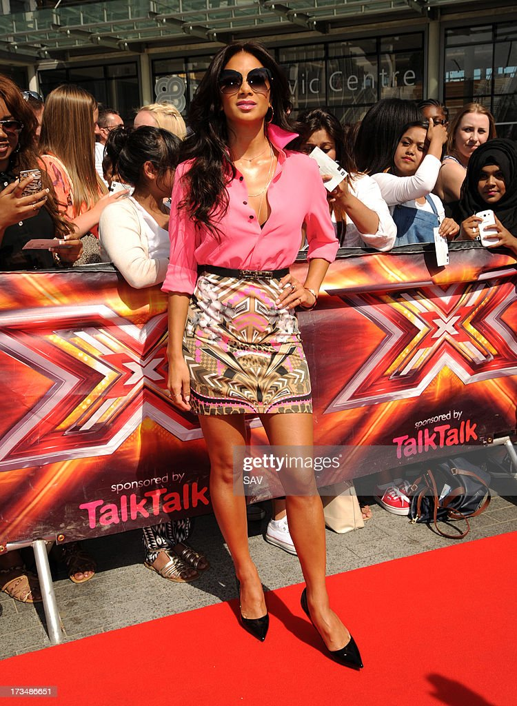 Nicole Scherzinger pictured arriving at Wembley Arena for the X Factor auditions on July 15, 2013 in London, England.