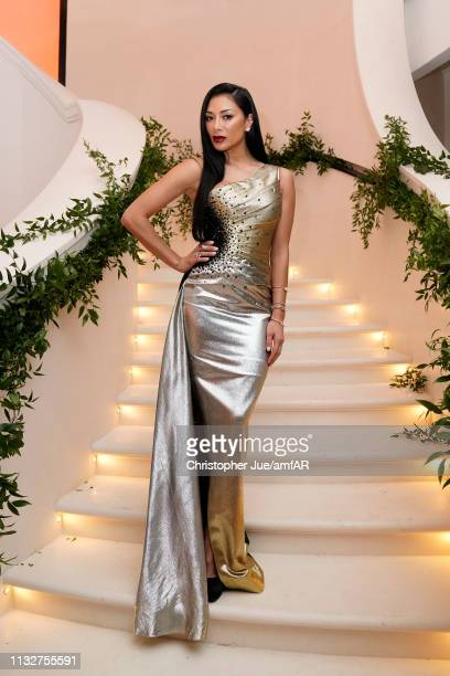 Nicole Scherzinger poses during the amfAR Gala Hong Kong 2019 at the Rosewood Hong Kong on March 25, 2019 in Hong Kong, Hong Kong.