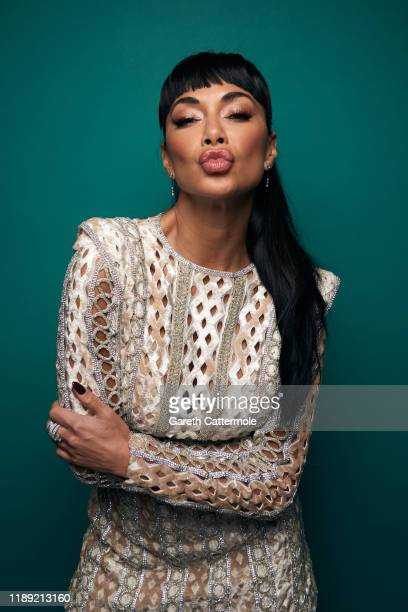 Nicole Scherzinger poses in the GAY TIMES Honours 500 studio at Magazine London on November 21, 2019 in London, England.
