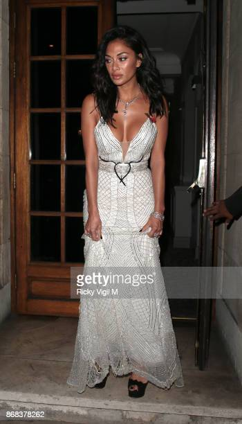 Nicole Scherzinger seen leasving Pride of Britain Awards held at Grosvenor House on October 30 2017 in London England