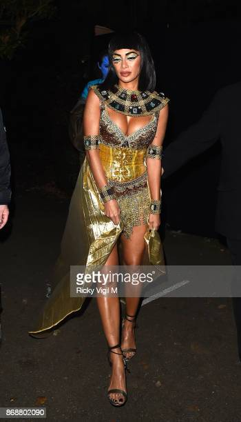 Nicole Scherzinger seen leaving Jonathan Ross Halloween party on October 31 2017 in London England