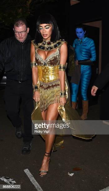 Nicole Scherzinger seen leaving Jonathan Ross Halloween party on October 31 2017 in London England