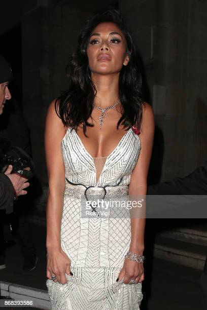 Nicole Scherzinger seen leaving Pride of Britain Awards held at Grosvenor House on October 30 2017 in London England
