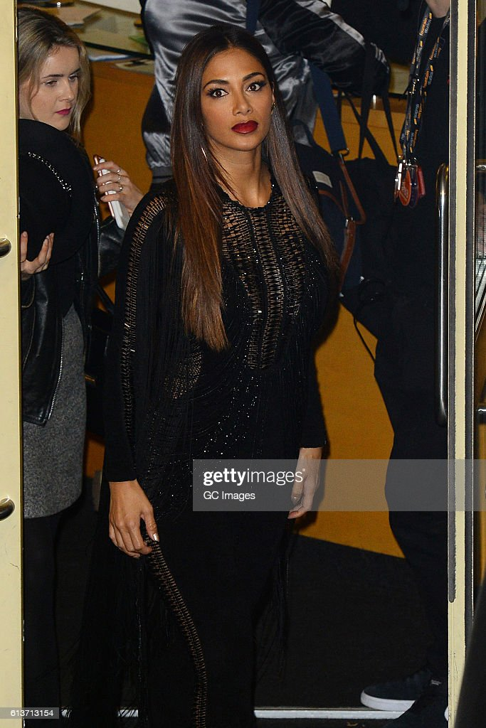 Nicole Scherzinger seen leaving the Fountain Studios after X Factor on October 9, 2016 in London, England.
