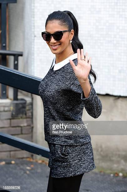 Nicole Scherzinger sighted departing ITV Studios on October 4 2012 in London England