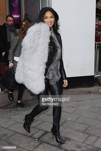Nicole Scherzinger sighted leaving Capital Radio studios on January 24 2013 in London England