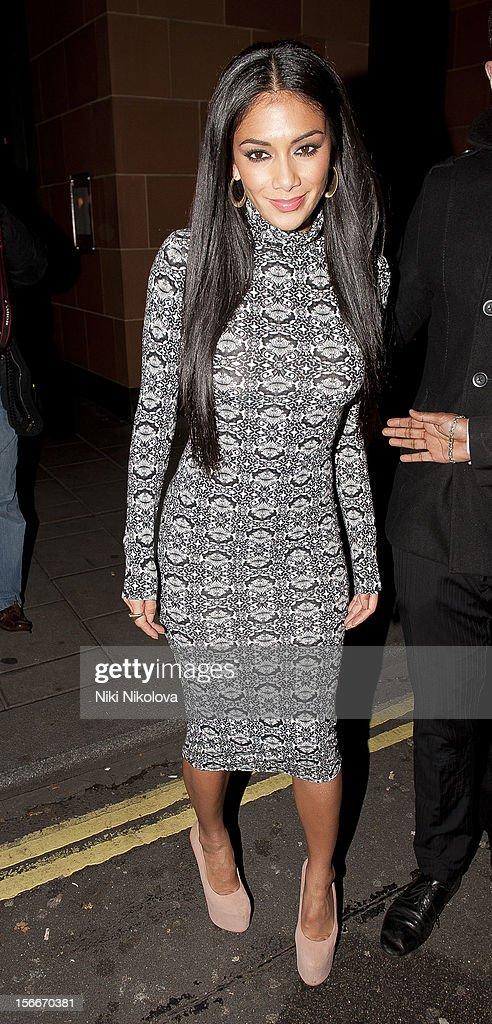 Nicole Scherzinger sighting on November 18, 2012 in London, England.