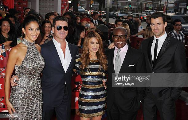 Nicole Scherzinger Simon Cowell Paula Abdul Antonio LA Reid and Steve Jones attend The X Factor World Premiere Screening at ArcLight Cinemas on...