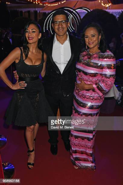 Nicole Scherzinger Sindika Dokolo and Isabel dos Santos attend the de Grisogono party during the 71st annual Cannes Film Festival at Villa des...