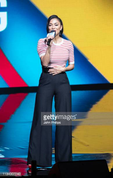 Nicole Scherzinger sings during WE Day UK 2019 at The SSE Arena on March 06 2019 in London England
