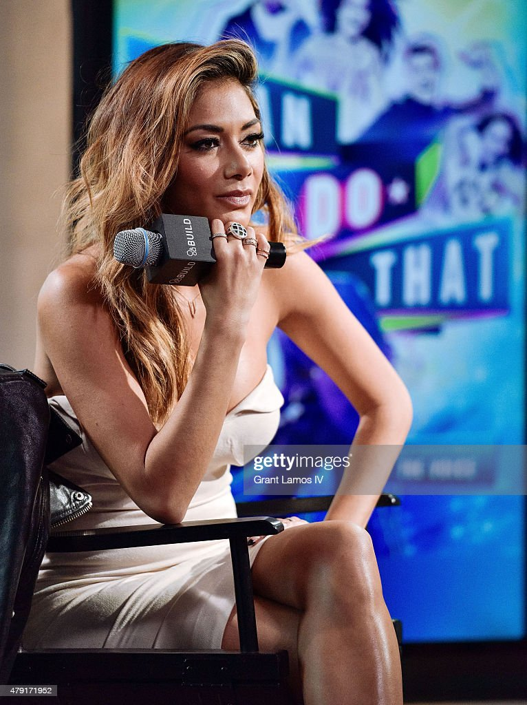 Nicole Scherzinger speaks at the AOL BUILD Speaker Series Presents: NBC's 'I Can Do That' at AOL Studios In New York on July 1, 2015 in New York City.