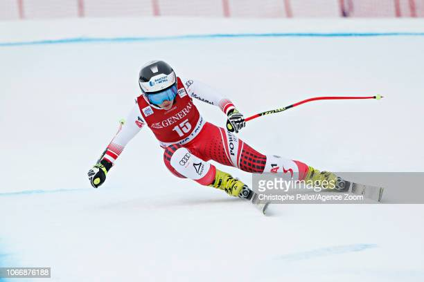 Nicole Schmidhofer of Austria competes during the Audi FIS Alpine Ski World Cup Women's Downhill on November 30 2018 in Lake Louise Canada