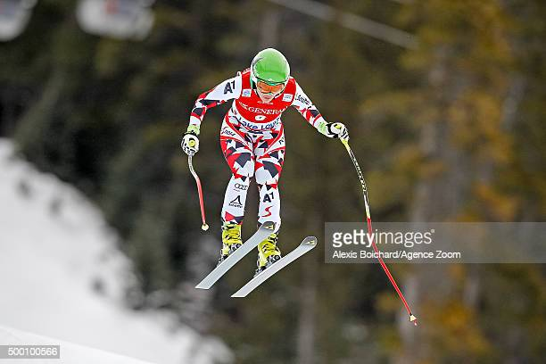 Nicole Schmidhofer of Austria competes during the Audi FIS Alpine Ski World Cup Women's Downhill on December 05 2015 in Lake Louise Canada