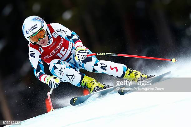 Nicole Schmidhofer of Austria competes during the Audi FIS Alpine Ski World Cup Women's Downhill on December 2 2016 in Lake Louise Canada