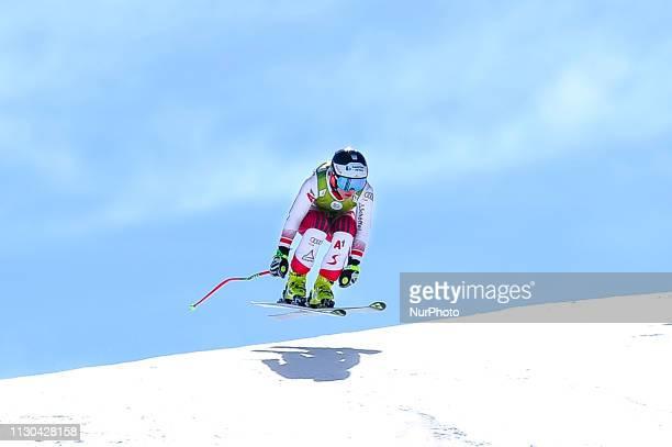 Nicole Schmidhofer of Austria Ski Team, during Ladies Super-G Audi FIS Ski World Cup race, on March 14, 2019 in El Tarter, Andorra.
