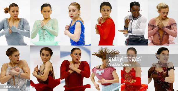 Nicole Schott of Germany Anne Line Gjersem of Norway Viveca Lindfors of Finland Ivett Toth of Hungary Mae Berenice Meite of France Emmi Peltonen of...