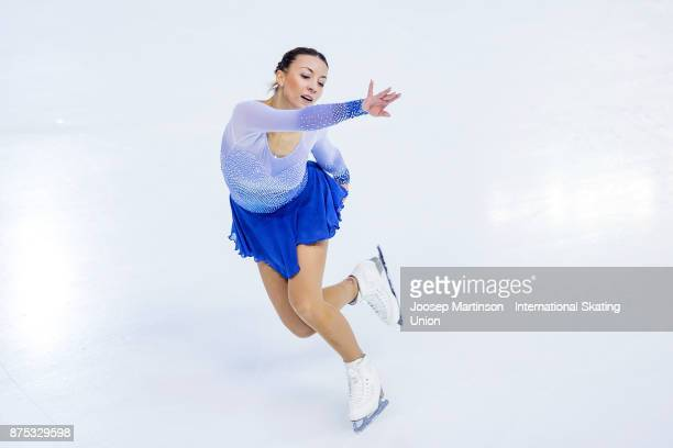 Nicole Schott of Germany competes in the Ladies Short Program during day one of the ISU Grand Prix of Figure Skating at Polesud Ice Skating Rink on...