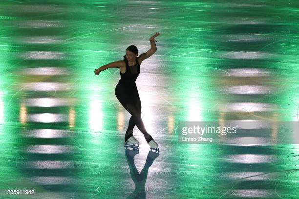 Nicole Schott of Germany performs in the gala exhibition during day 4 of the 2021 Asia Open Figure Skating test event for the Beijing 2022 Winter...