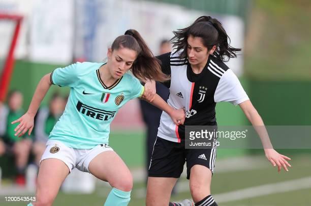 Nicole Sciberras of Juventus Women U19 in action during the Viareggio Women's Cup match between Juventus U19 and FC Internazionale U19 on February 13...