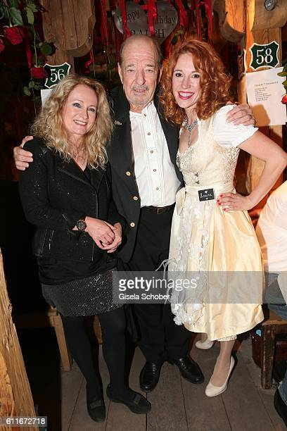 Nicole Seibert Ralph Siegel celebrates his 71st birthday with his girlfriend Laura Kaefer during the Oktoberfest at Theresienwiese on September 30...