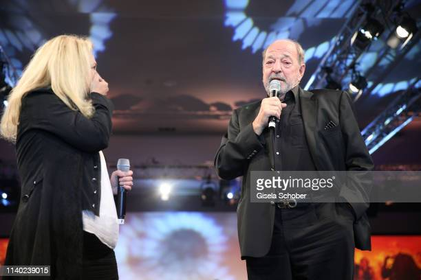 Nicole Seibert Ralph Siegel during the 7th Fashion Charity Dinner and the Best of Awards at Hotel Leonardo Royal on April 29 2019 in Munich Germany