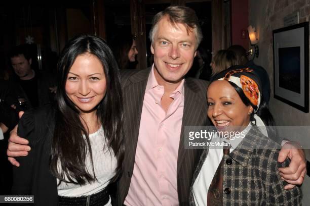 Nicole Seidel Richard Johnson and Naz attend Birthday Bash for RICHARD JOHNSON and JASON BINN at Da Silvano Bistecca on January 19 2009 in New York...