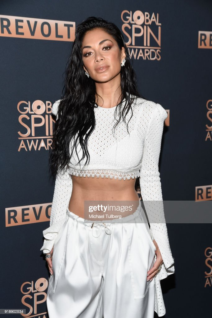Nicole Sherzinger attends the 6th Annual Global Spin Awards at The Novo by Microsoft on February 15, 2018 in Los Angeles, California.