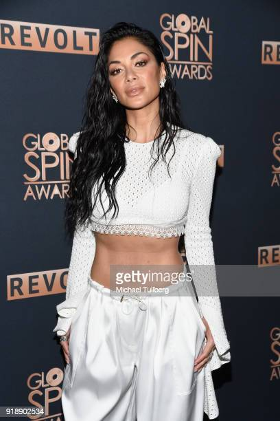 Nicole Sherzinger attends the 6th Annual Global Spin Awards at The Novo by Microsoft on February 15 2018 in Los Angeles California