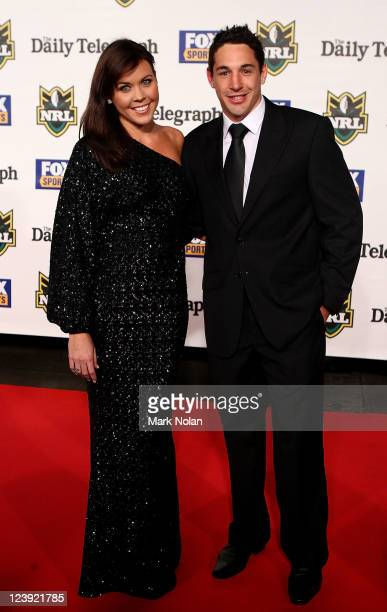 Nicole Slater and Billy Slater pose on the red carpet before the 2011 Dally M Awards at the Royal Hall of Industries Moore Park on September 6 2011...