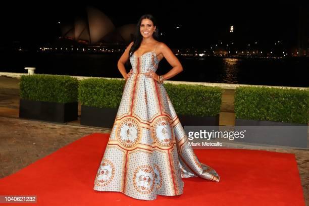 Nicole Slater arrives at the 2018 Dally M Awards at Overseas Passenger Terminal on September 26 2018 in Sydney Australia