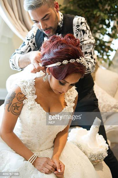 Nicole Snooki Polizzi And Hair Stylist Luis Miller Are Seen During The Wedding Of