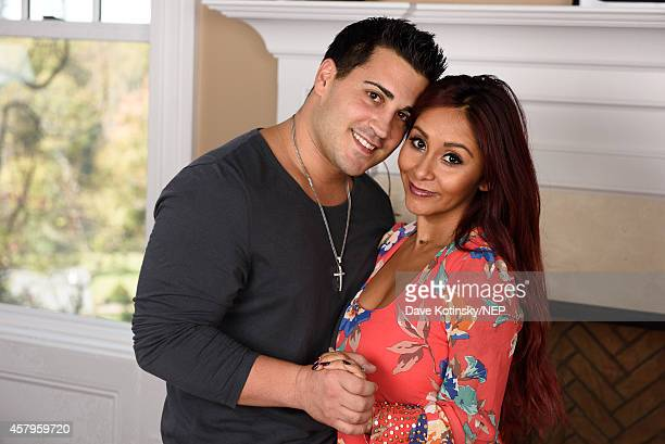 Nicole Snooki Polizzi and Jionni LaValle debut their new daughter Giovanna Marie LaValle on October 24 2014 in Whippany New Jersey