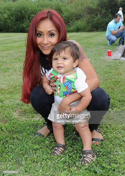Nicole 'Snooki' Polizzi and Lorenzo Dominic LaValle celebrate Lorenzo Dominic LaValle's First Birthday on September 14 2013 in Poughkeepsie New York