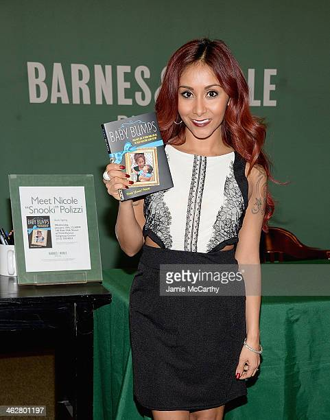 Nicole 'Snooki' Polizzi attends a signing of her new book 'Baby Bumps' at Barnes Noble Citigroup Center on January 15 2014 in New York City