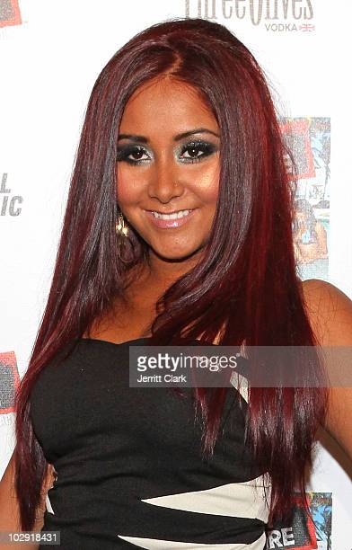 Nicole 'Snooki' Polizzi attends the 'Jersey Shore' album release party at Marquee on July 13 2010 in New York City