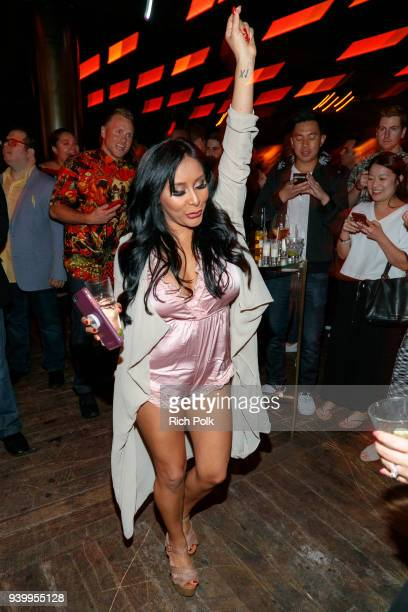 Nicole 'Snooki' Polizzi attends the Jersey Shore Family Vacation Premiere Party at Hyde Sunset Kitchen Cocktails on March 29 2018 in West Hollywood...