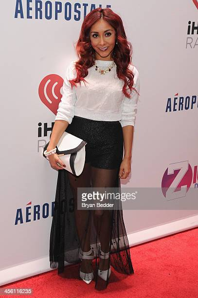 Nicole 'Snooki' Polizzi attends Z100's Jingle Ball 2013 presented by Aeropostale at Madison Square Garden on December 13 2013 in New York City