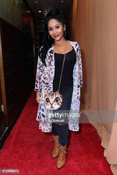 Nicole 'Snooki' Polizzi entering the Under the Influence panel at Liberty Theater during 2016 Advertising Week New York on September 28 2016 in New...