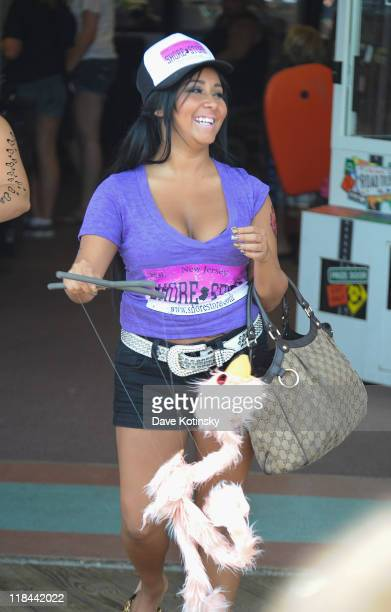 Nicole 'Snooki' Polizzi filming on location for 'Jersey Shore' on July 7 2011 in Seaside Heights New Jersey