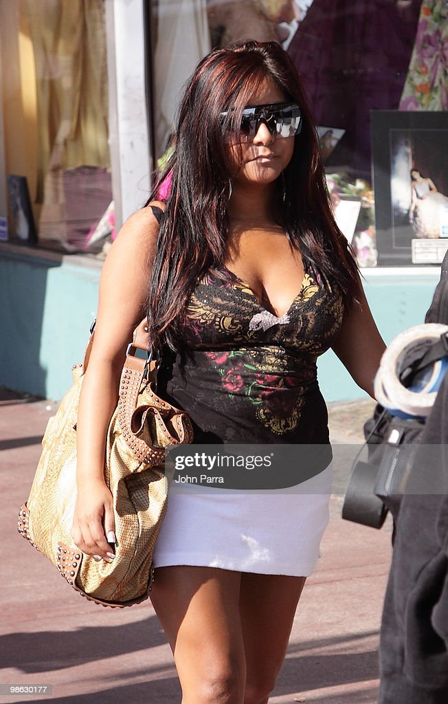 Nicole 'Snooki' Polizzi is seen on April 22, 2010 in Miami Beach, Florida.