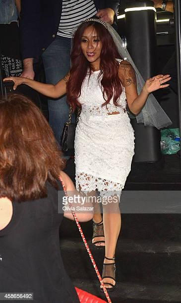 Nicole 'Snooki' Polizzi is sighted on November 8 2014 in Miami Beach Florida