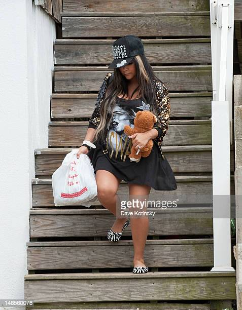 Nicole 'snooki' Polizzi seen on location for 'Jersey Shore' on June 19 2012 in Seaside Heights New Jersey