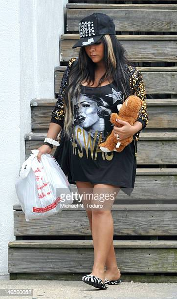 Nicole 'Snooki' Polizzi sighted on location for 'Jersey Shore' on June 19 2012 in Seaside Heights New Jersey