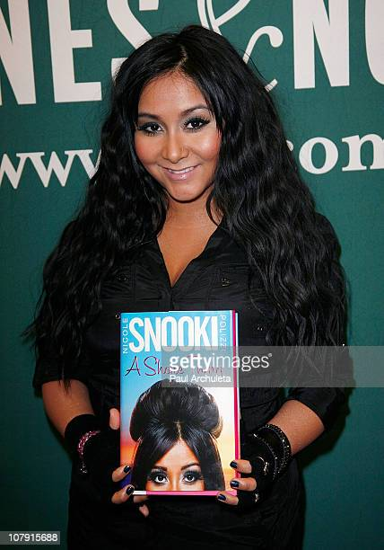 Nicole 'Snooki' Polizzi signs copies of her new book 'A Shore Thing' at Barnes Noble bookstore at The Grove on January 6 2011 in Los Angeles...