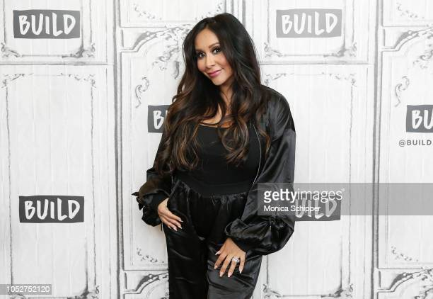 Nicole Snooki Polizzi visits Build Studio to discuss the TV show How Far Is Tattoo Far on October 22 2018 in New York City